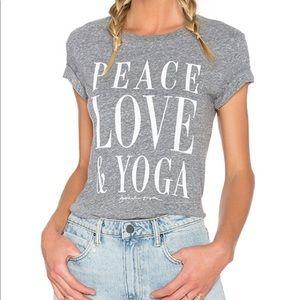 Spiritual Gangster Peace Love & Yoga tee XS A3